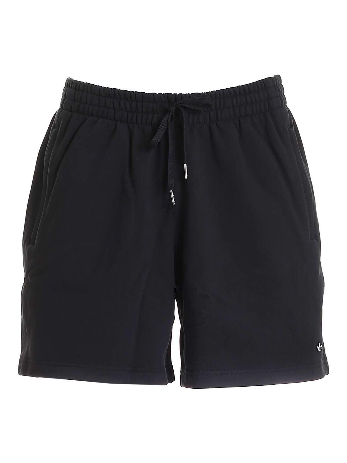 Adidas Originals Adicolour Premium Black Cotton Shorts