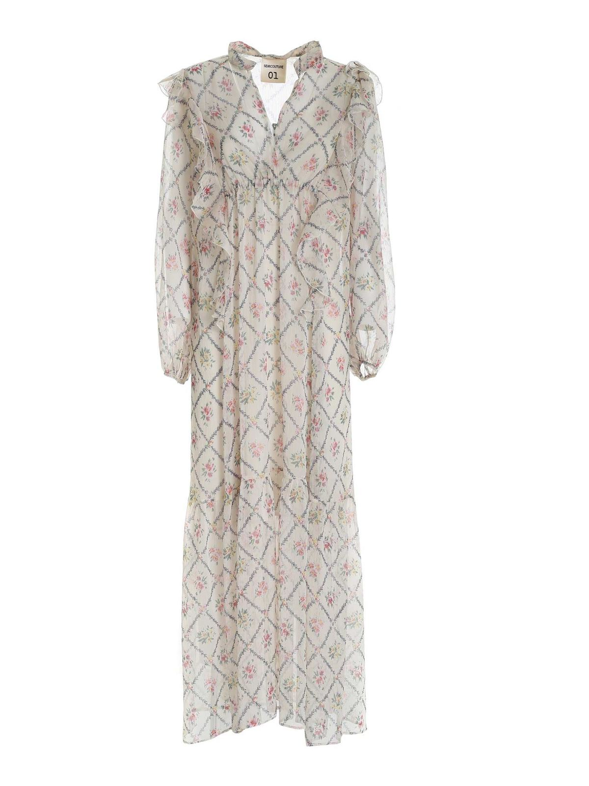Semicouture FLORENCE DRESS IN BEIGE