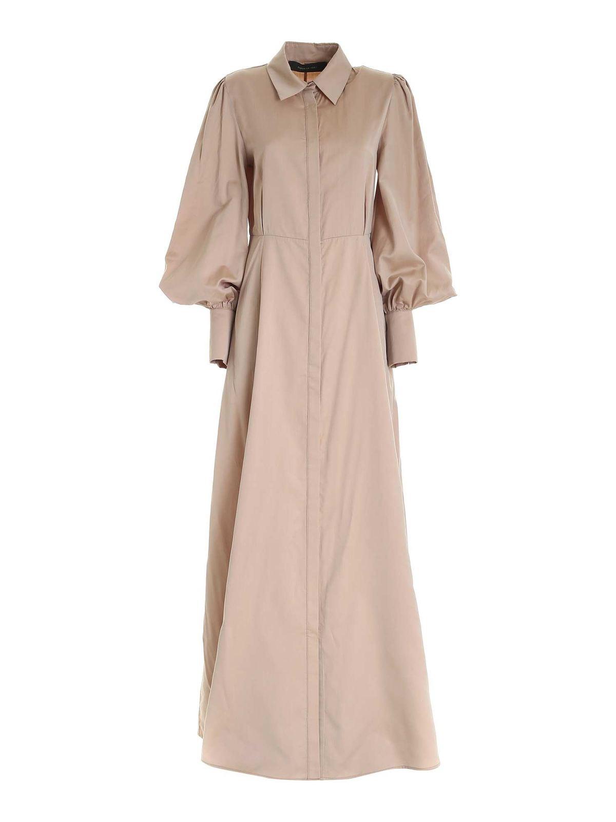 Federica Tosi SHIRT DRESS IN BEIGE