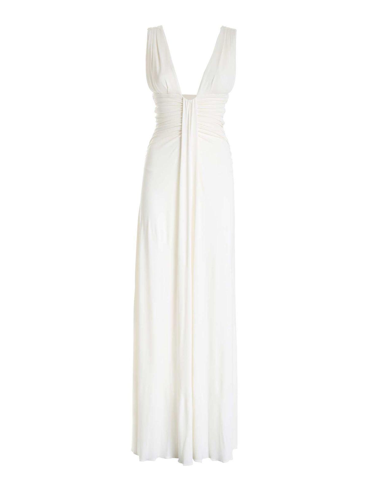Pinko LONG JULIET DRESS IN WHITE
