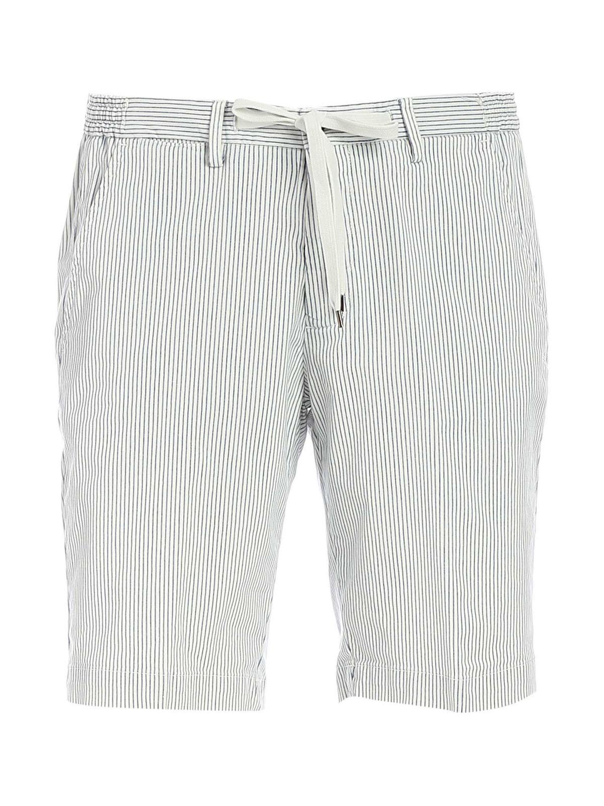 Briglia 1949 Shorts STRIPED BERMUDA IN WHITE AND BLUE