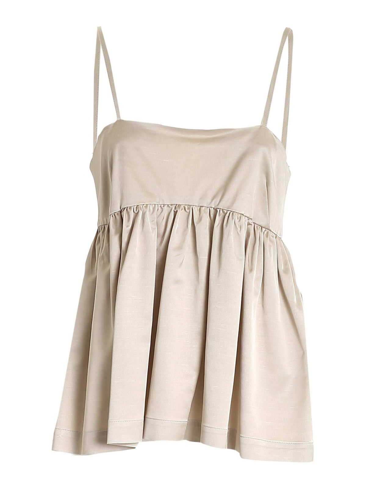 Semicouture JACOTTE TOP IN DOVE GREY