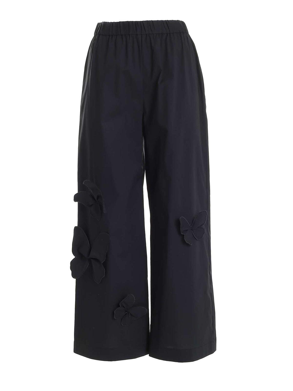 Vivetta BUTTERFLIES DETAILS PANTS IN BLACK