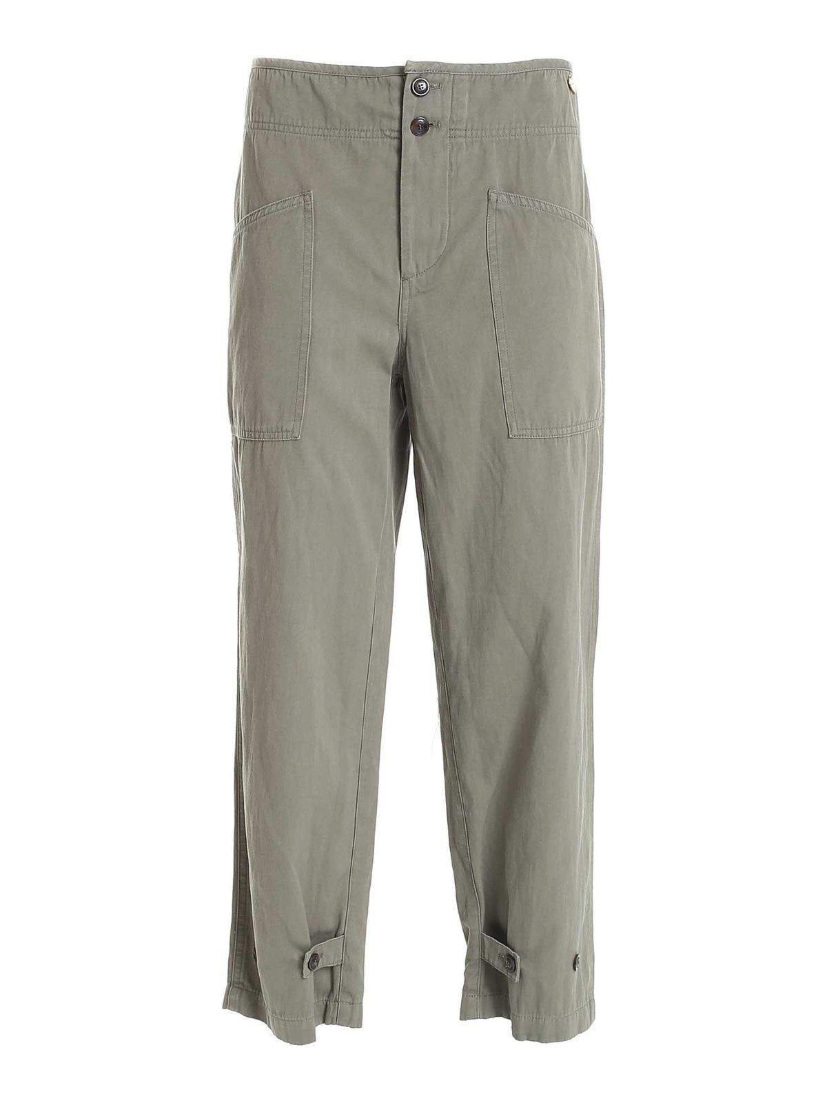 Twinset CARGO PANTS IN GREEN