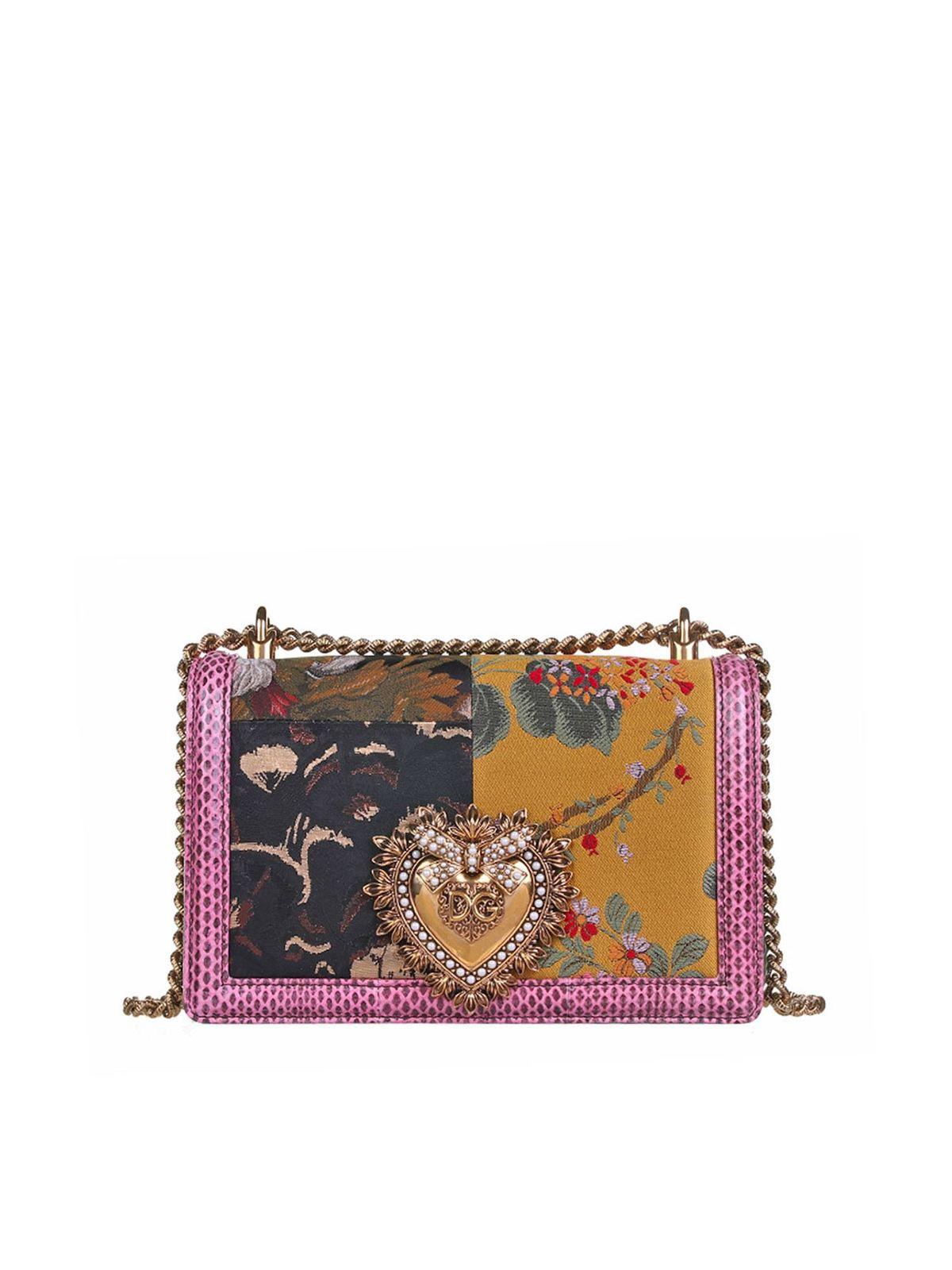 Dolce & Gabbana FLORAL DEVOTION BAG IN PINK