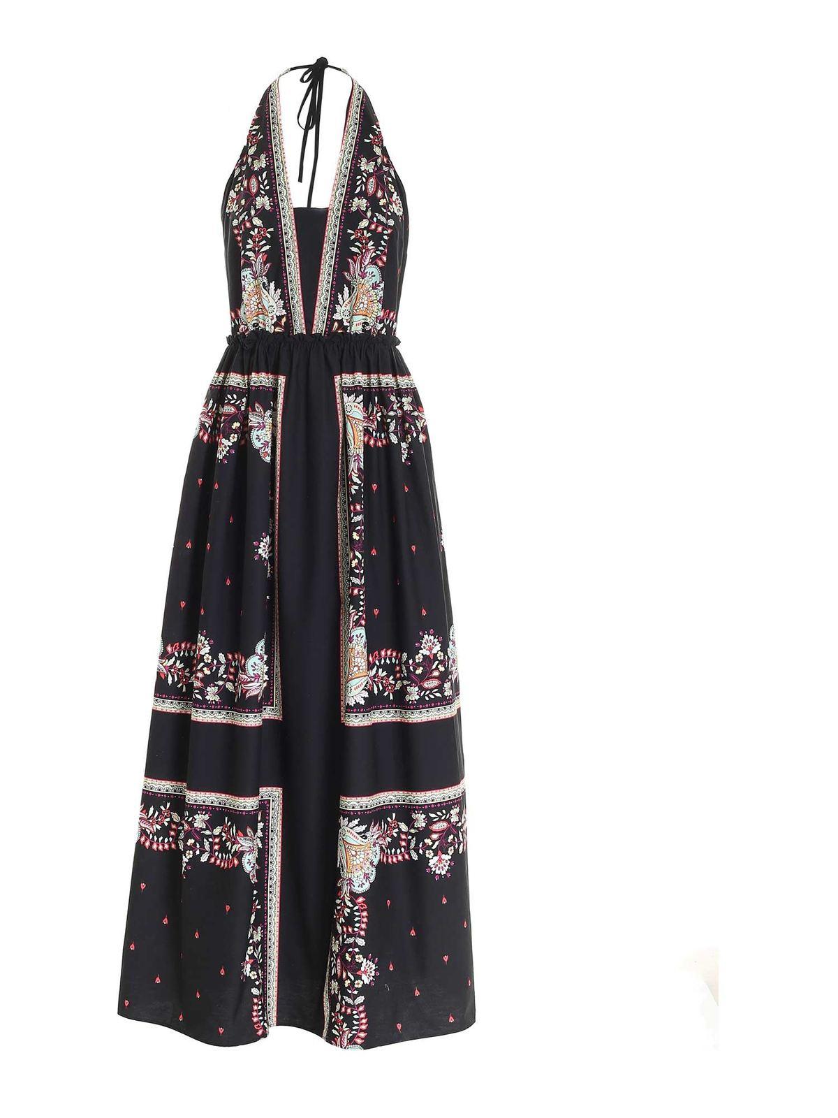 Twinset FLORAL PRINT DRESS IN BLACK