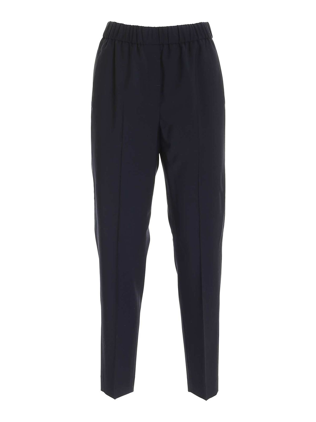 Peserico HIGH WAISTED PANTS IN DARK BLUE