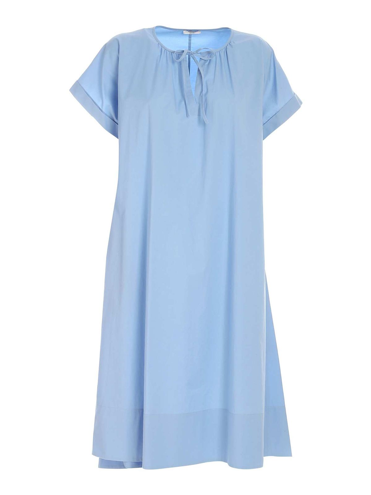 Peserico FLARED DRESS IN LIGHT BLUE