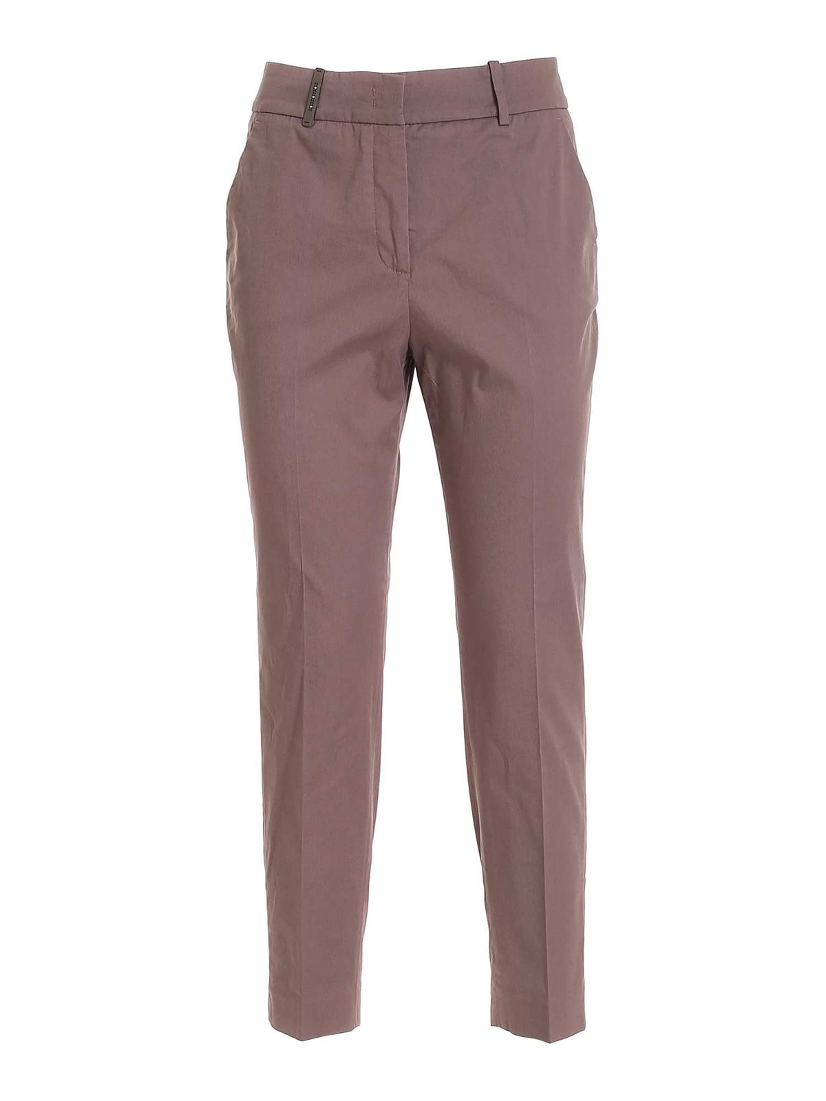 Peserico COTTON PANTS IN BROWN