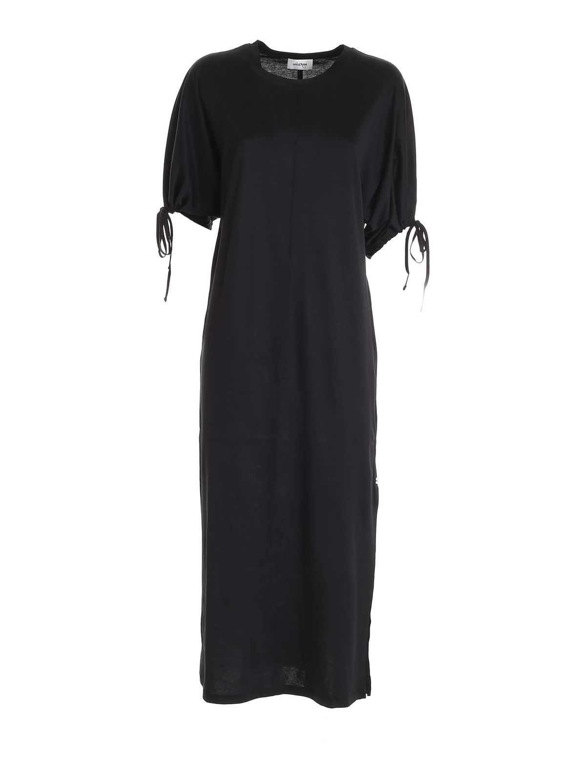 Ottod'ame LONG T-SHIRT DRESS IN BLACK