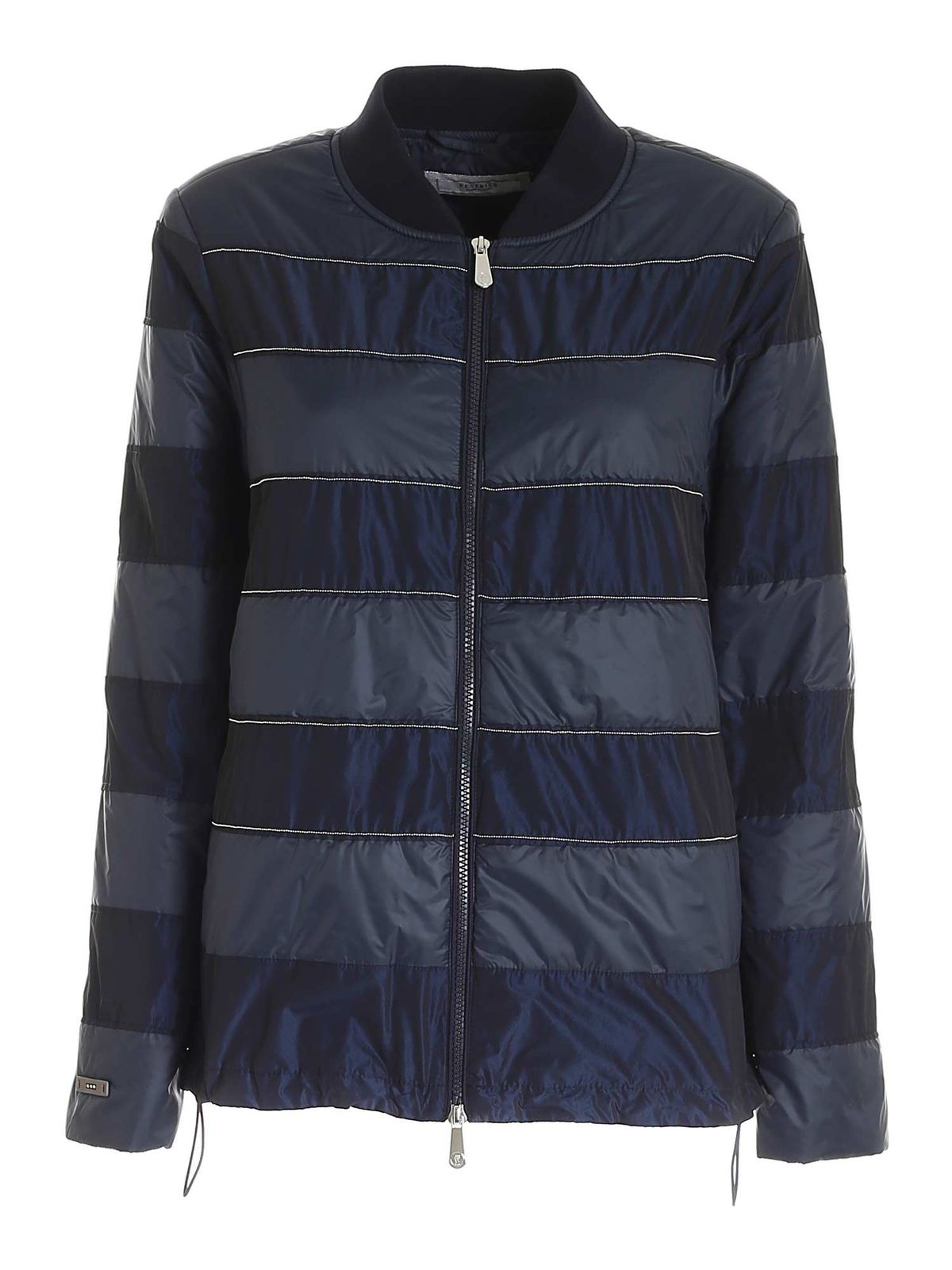 Peserico MICRO BEADS JACKET IN BLUE