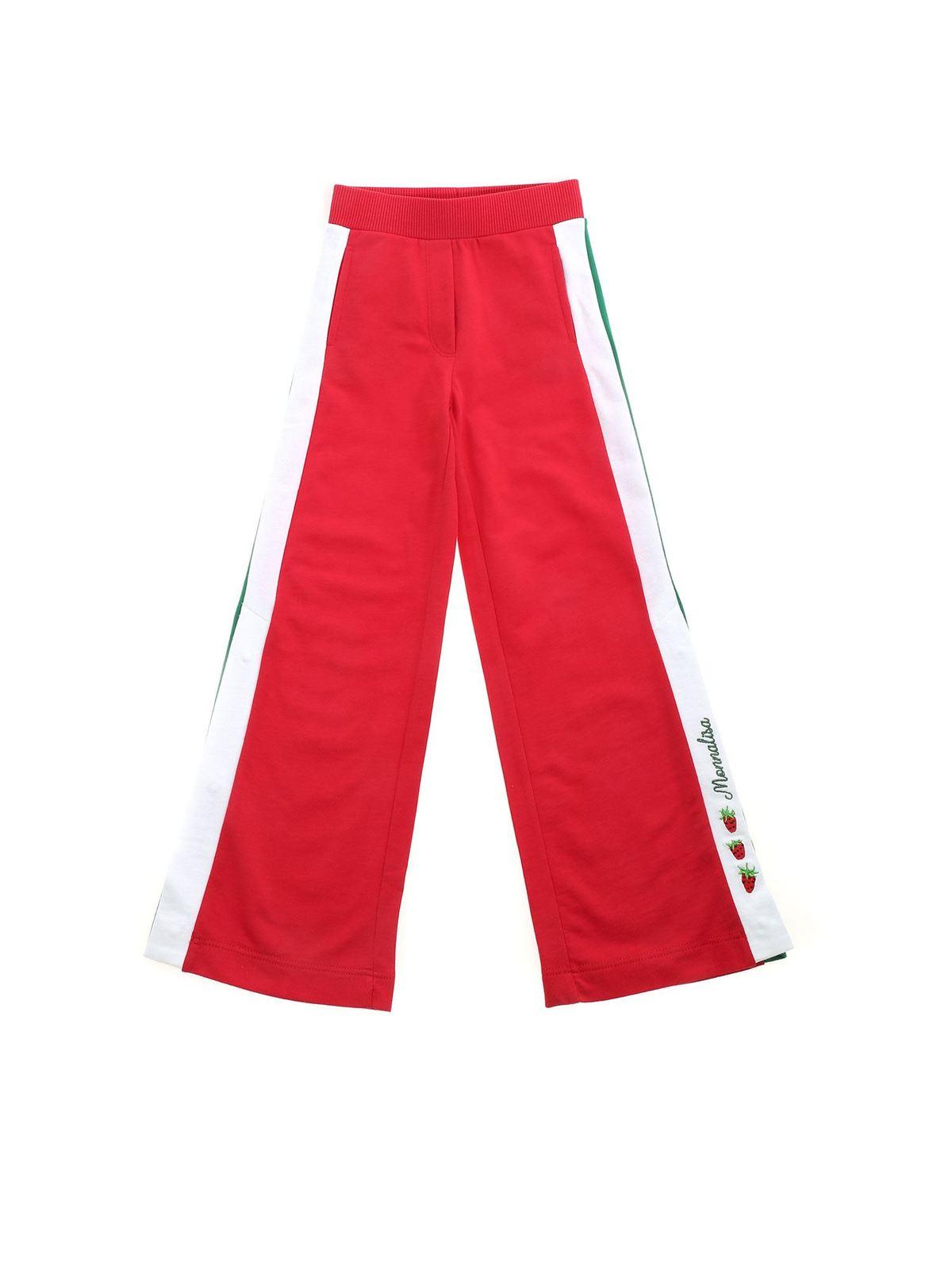 Monnalisa SIDE OPENING PANTS IN RED