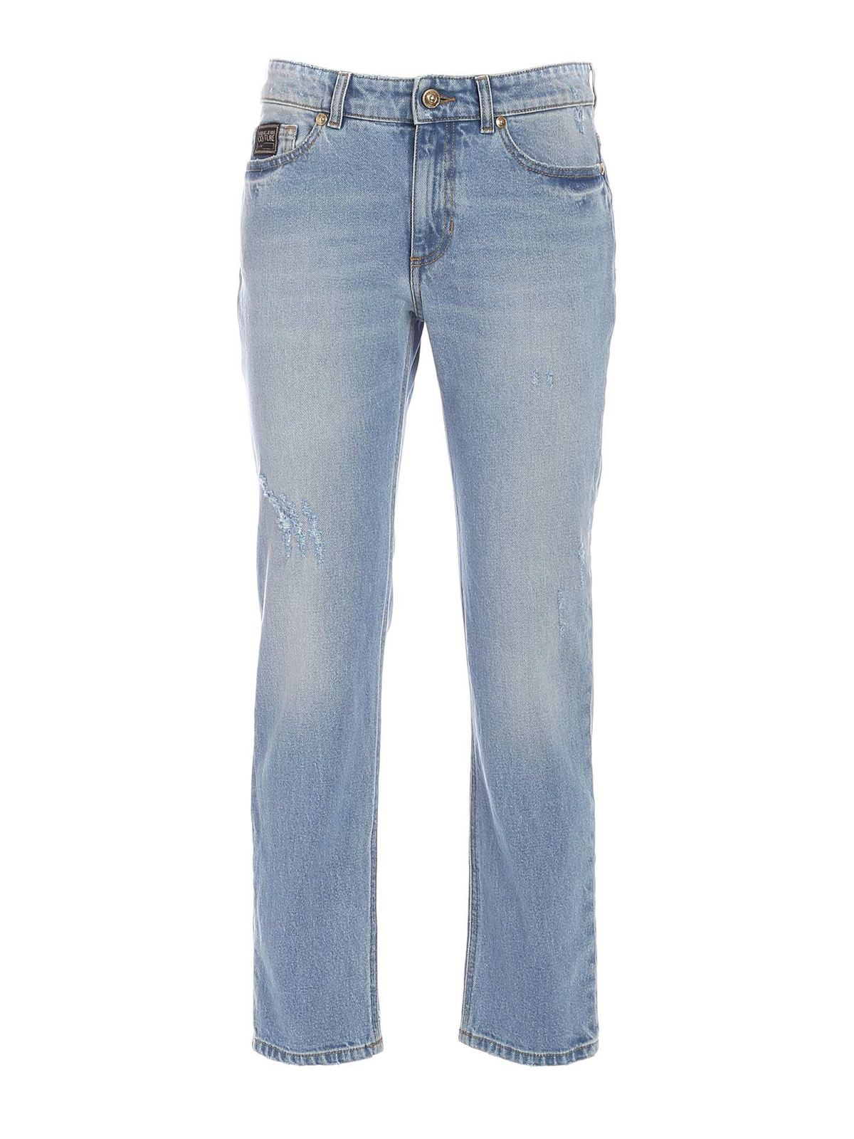 Versace Jeans Couture LETTERING LOGO JEANS IN LIGHT BLUE