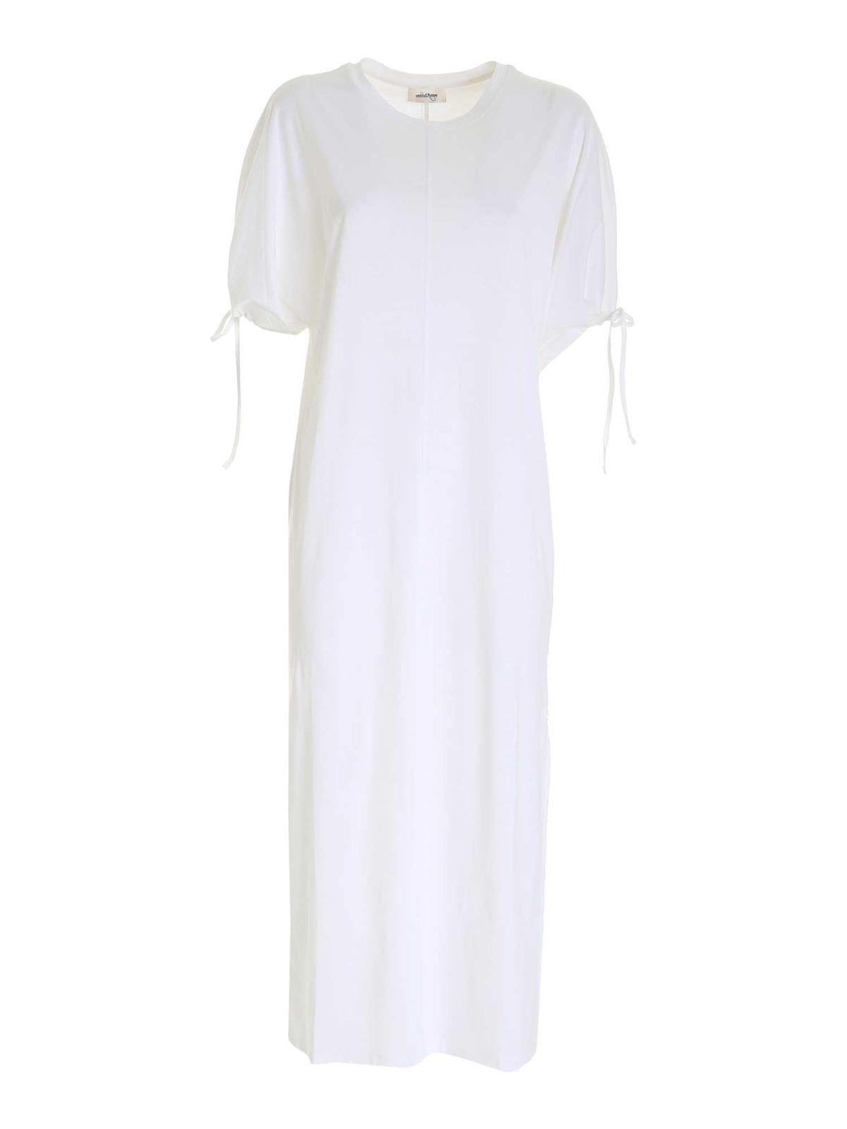 Ottod'ame LONG T-SHIRT DRESS IN WHITE