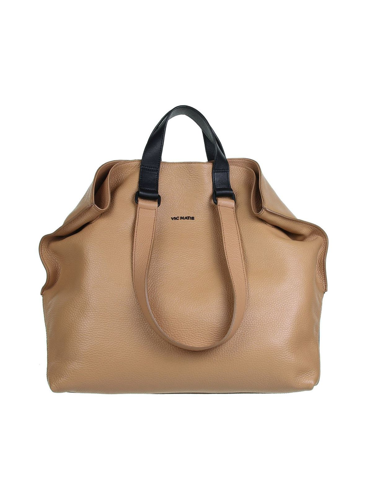 Vic Matie Leathers AGATHE TOTE BAG IN BROWN