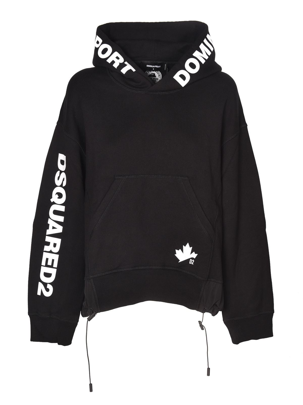 Dsquared2 Cottons LOGO HOODIE IN BLACK