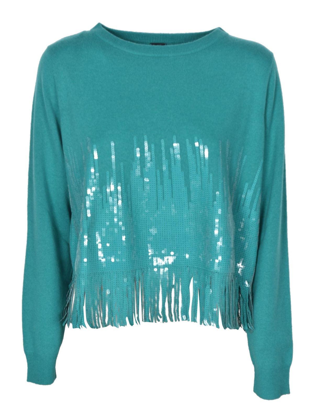 Pinko Sweaters TRIAL SWEATER IN TURQUOISE