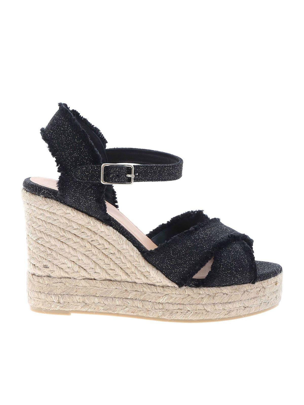 Castaã±er Sandals BROMELIA SANDALS IN BLACK