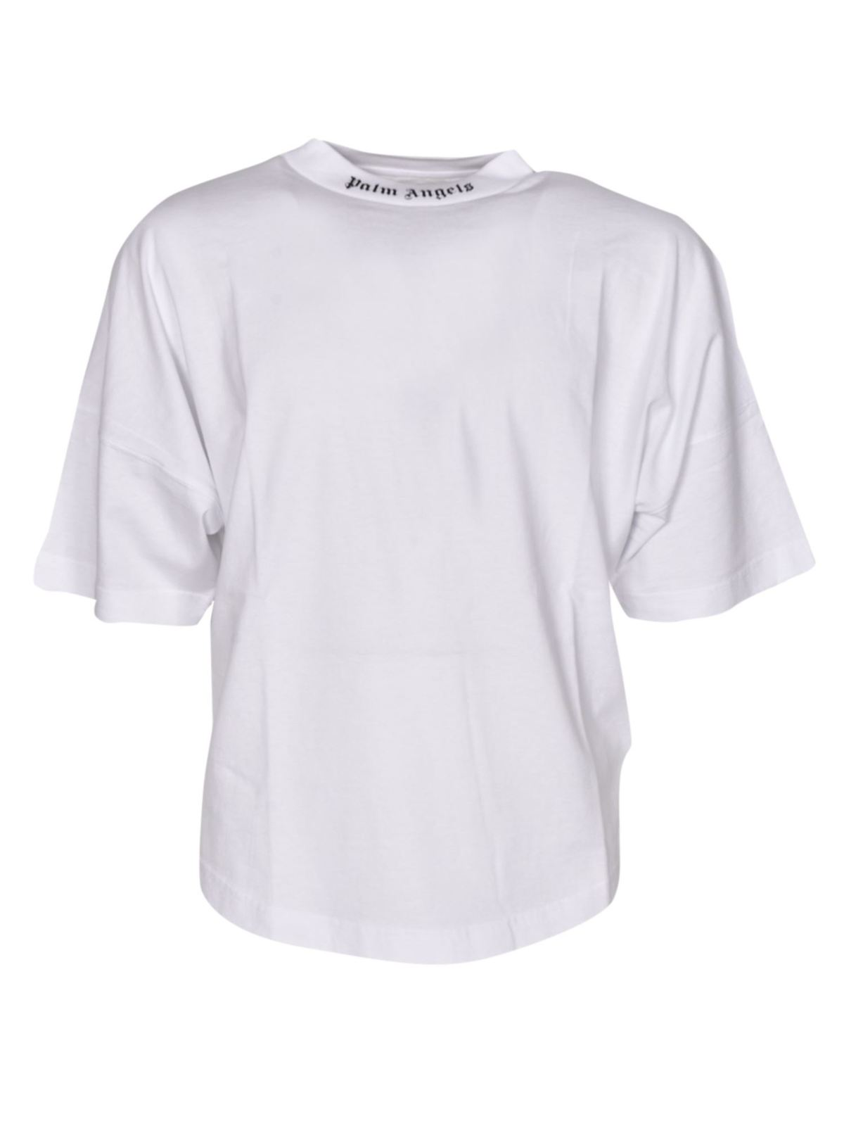 Palm Angels OVERSIZED LOGO LETTERING T-SHIRT IN WHITE