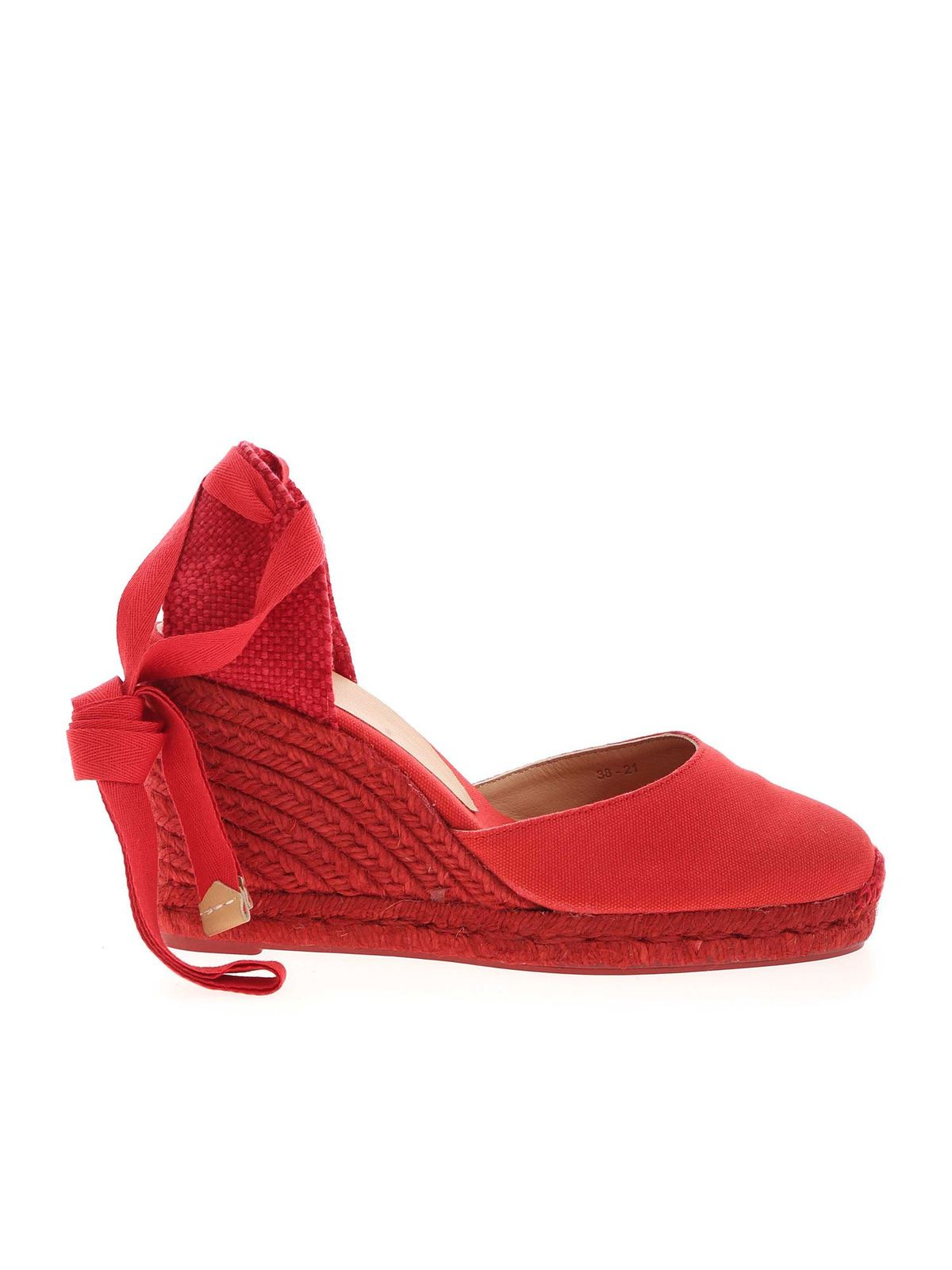 Castaã±er Wedges CARINA WEDGE ESPADRILLES IN RED