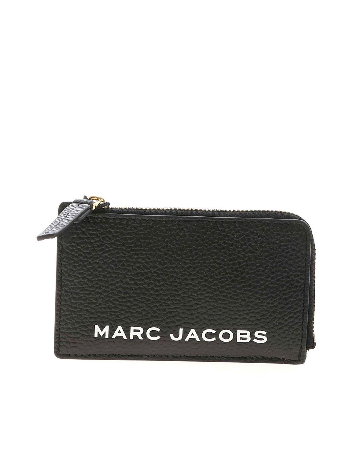 Marc Jacobs RUBBERIZED LOGO WALLET IN BLACK