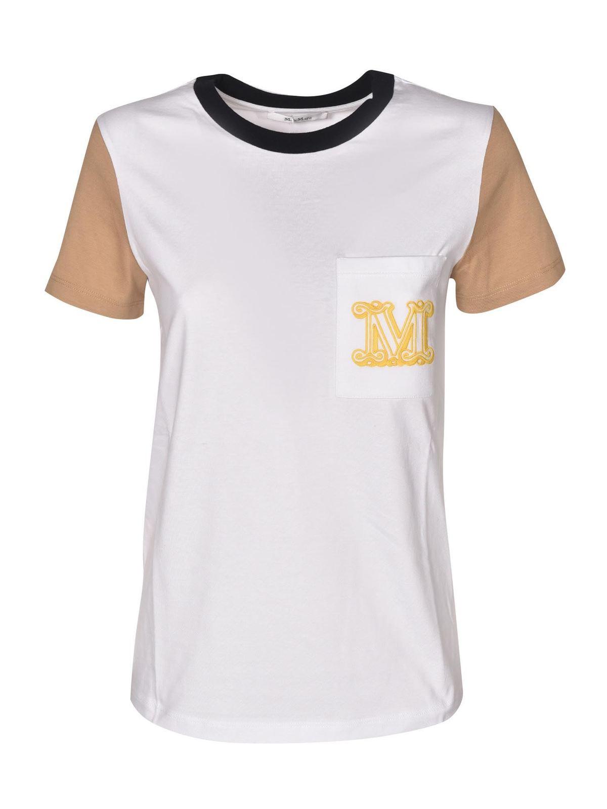 Max Mara T-shirts DIEGO COLOR BLOCK T-SHIRT