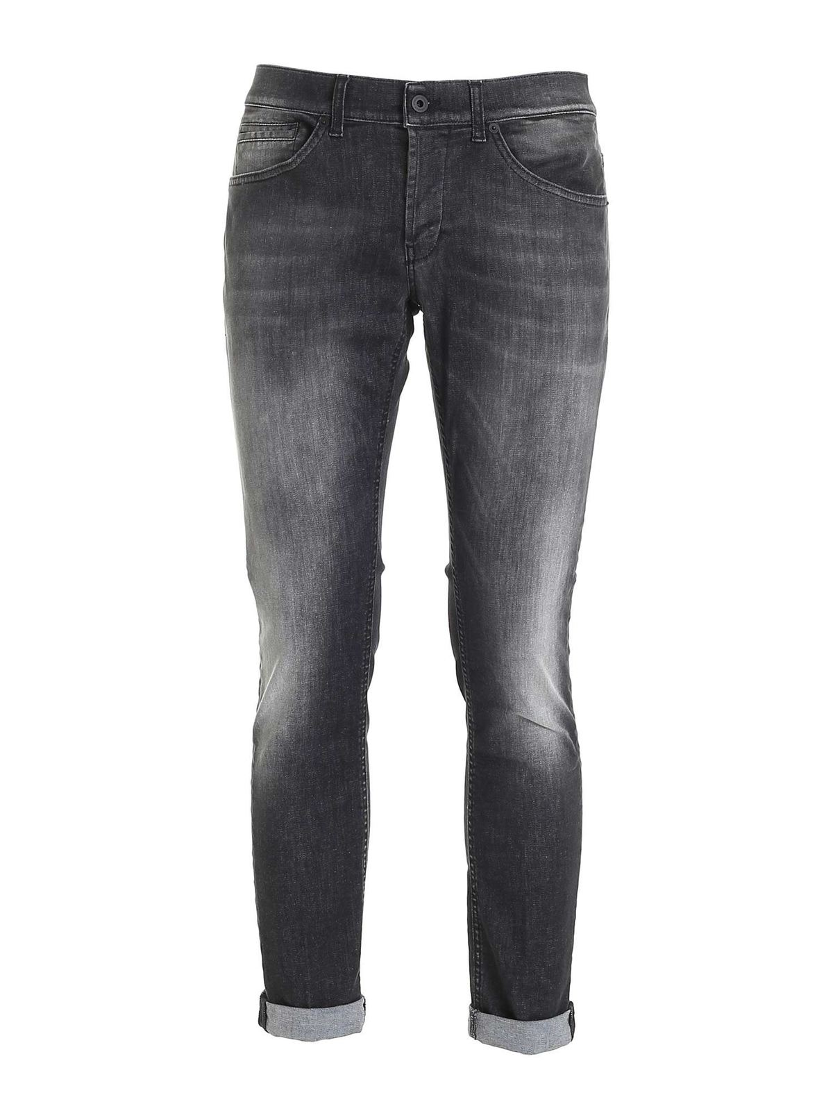 Dondup Cottons GEORGE JEANS IN FADED BLACK