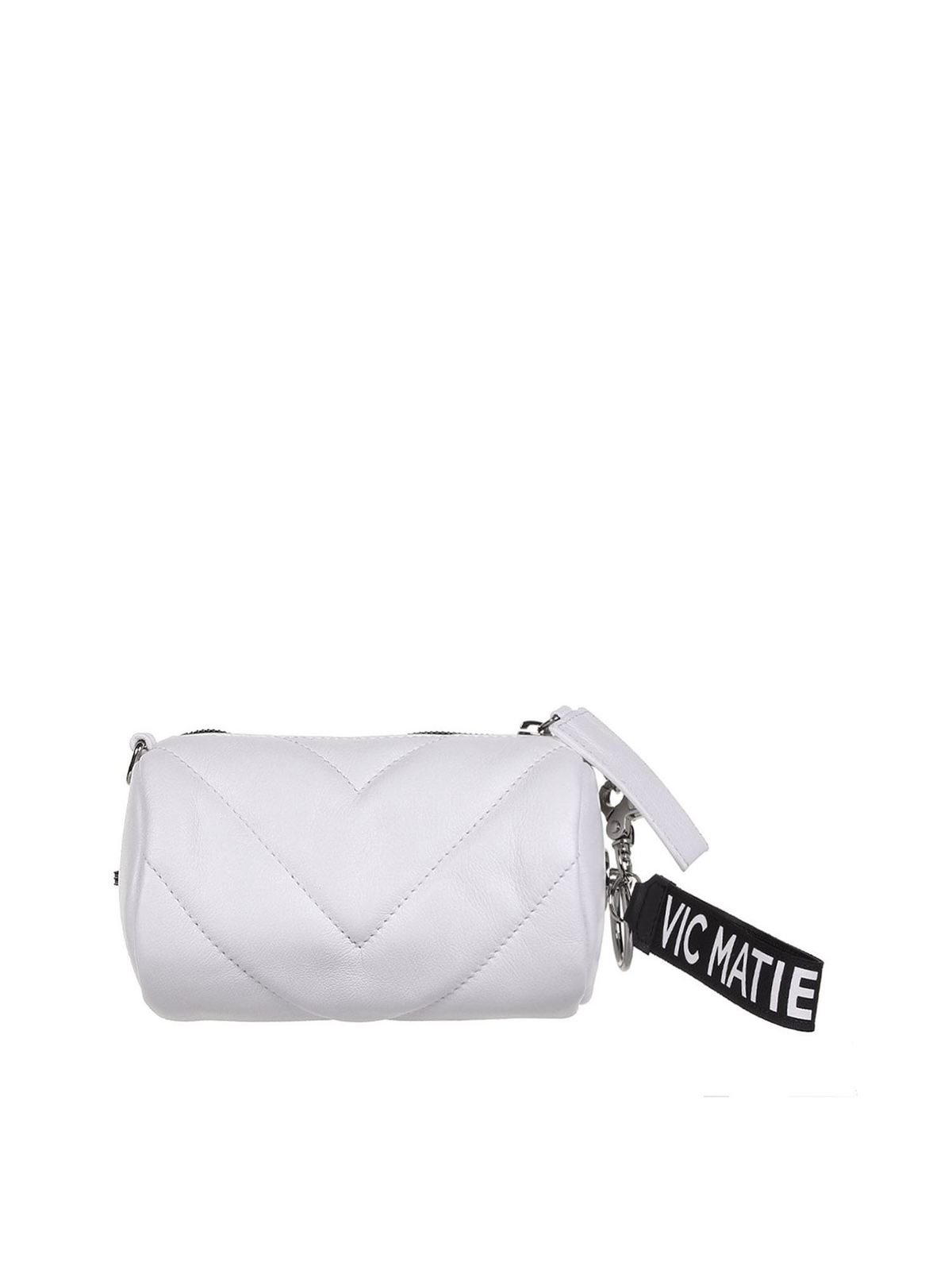 Vic Matie Leathers DAVE MINI BAG IN WHITE