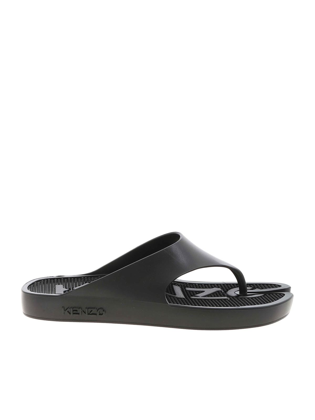 Kenzo FLIP-FLOPS SLIPPERS IN BLACK