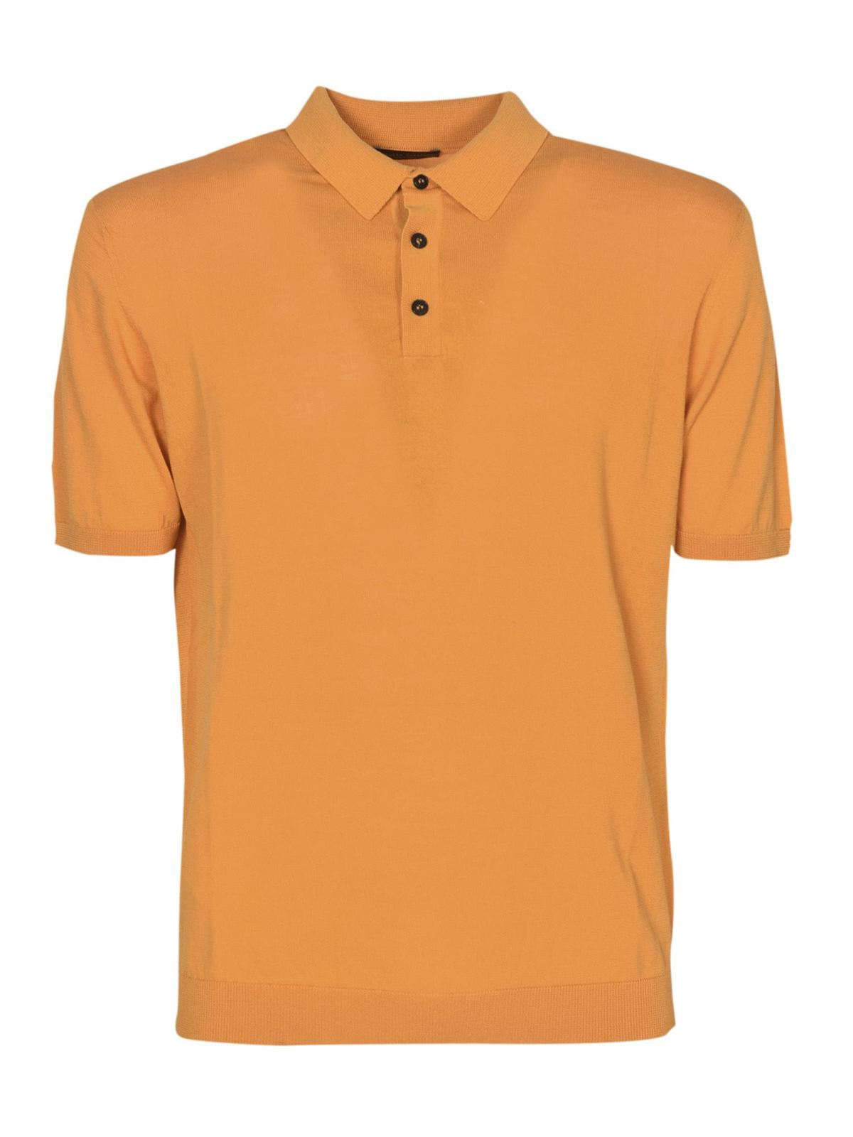 Roberto Collina JERSEY POLO SHIRT IN MELONE COLOR