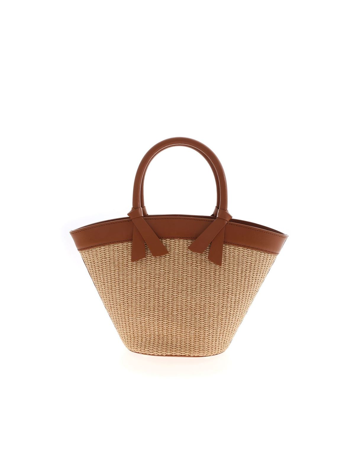 Ermanno Scervino JOLIE SMALL BAG IN BEIGE AND BROWN