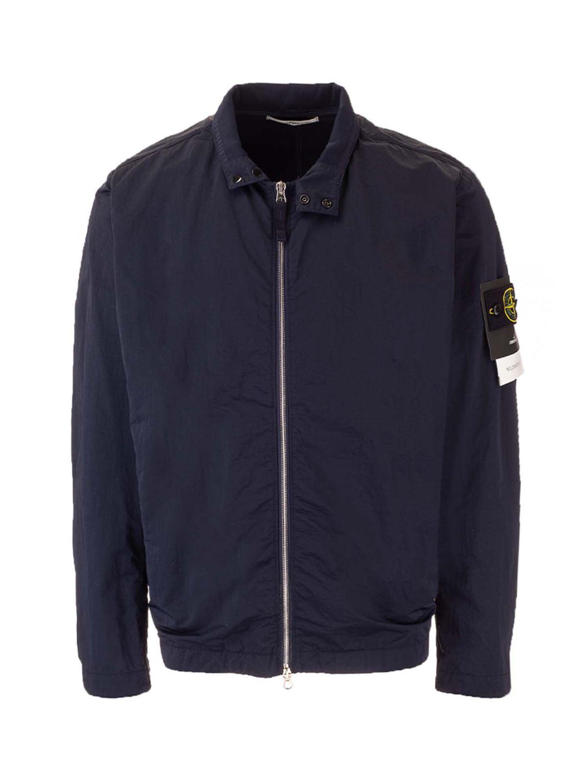 Stone Island Jackets LOGO PATCH JACKET IN BLUE