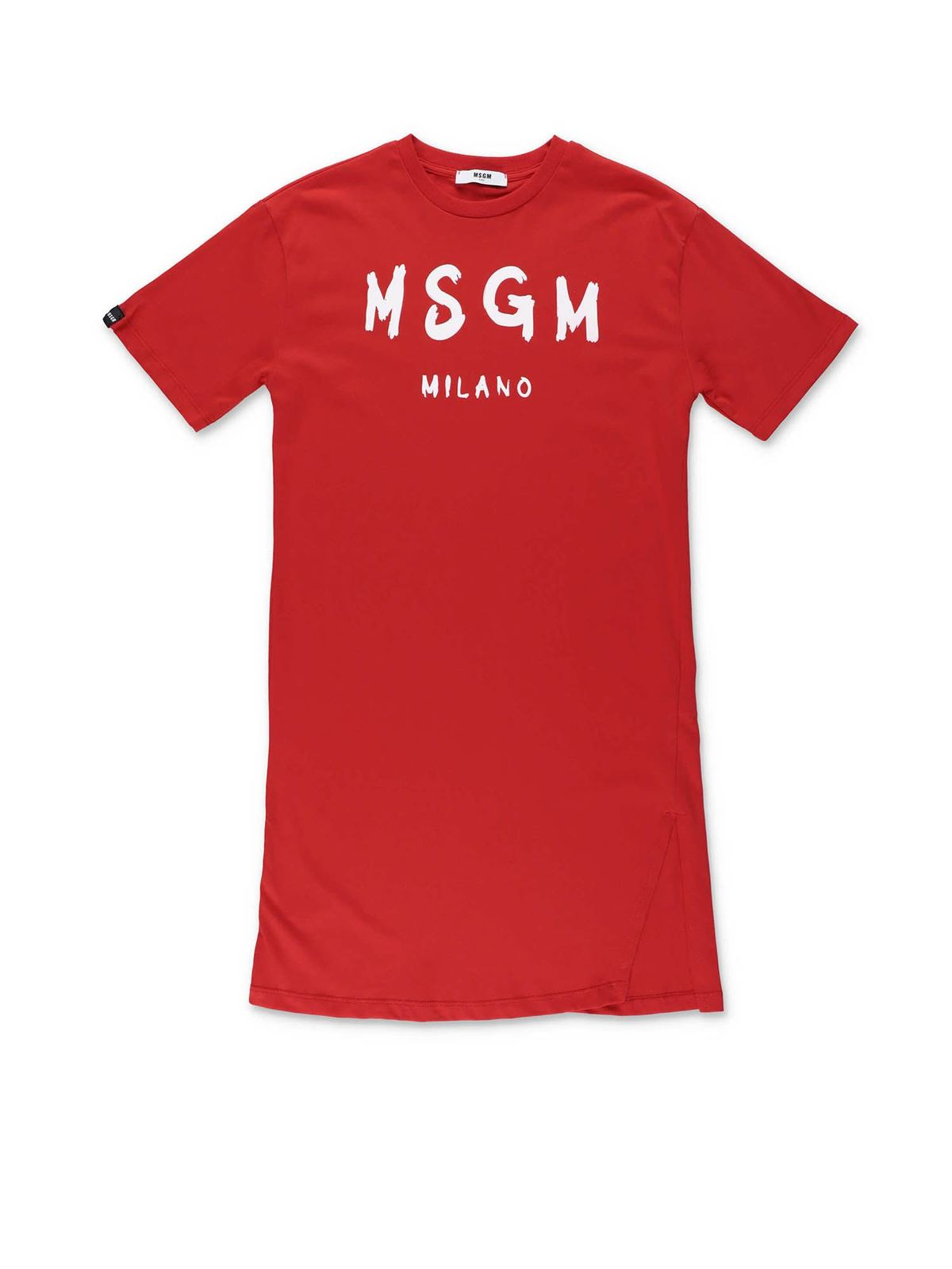Msgm RED DRESS WITH LOGO