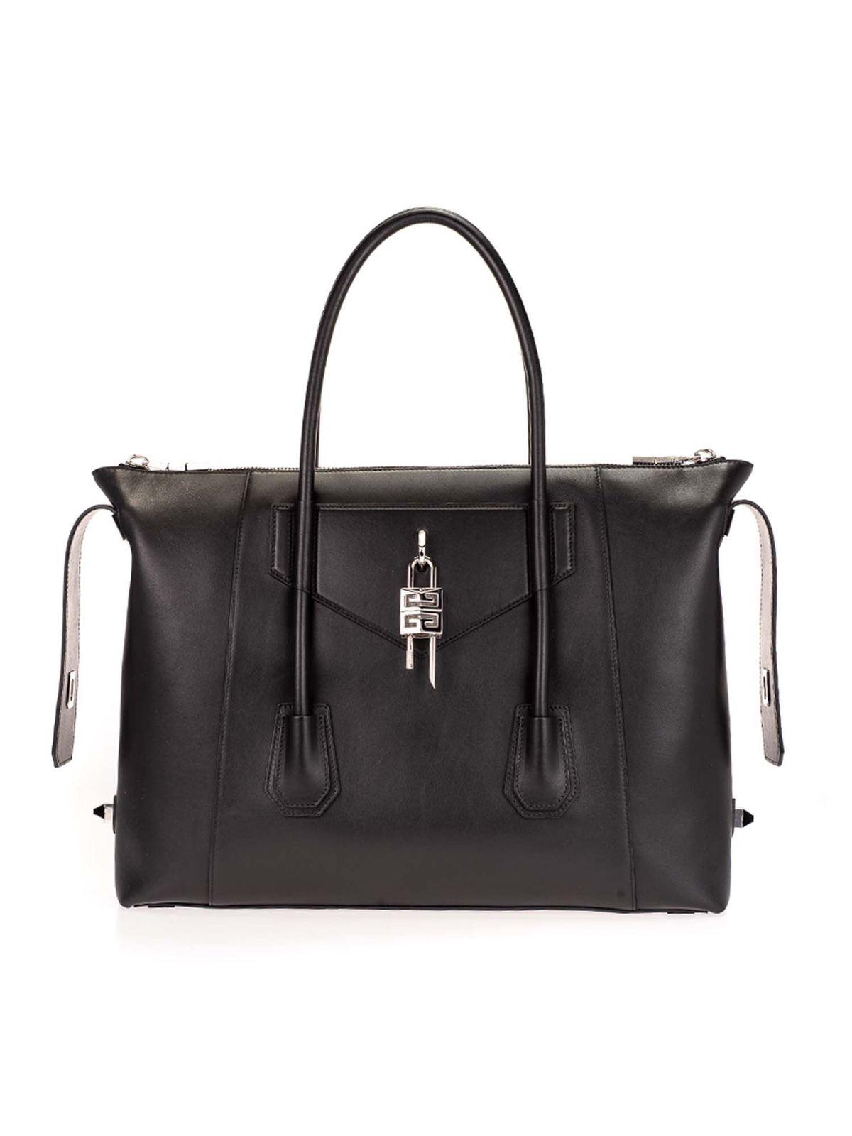 Givenchy Leathers MEDIUM ANTIGONA SOFT LOCK IN BLACK