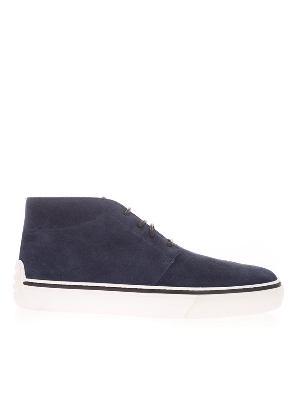 Tod's SUEDE SNEAKERS IN BLUE