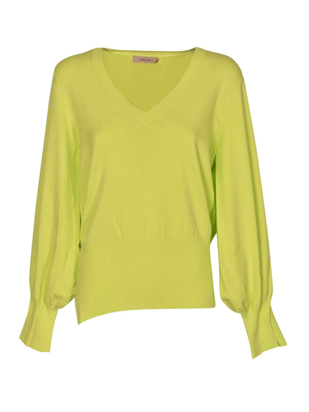 Twinset VENTS SWEATER IN GIALLO LED COLOR