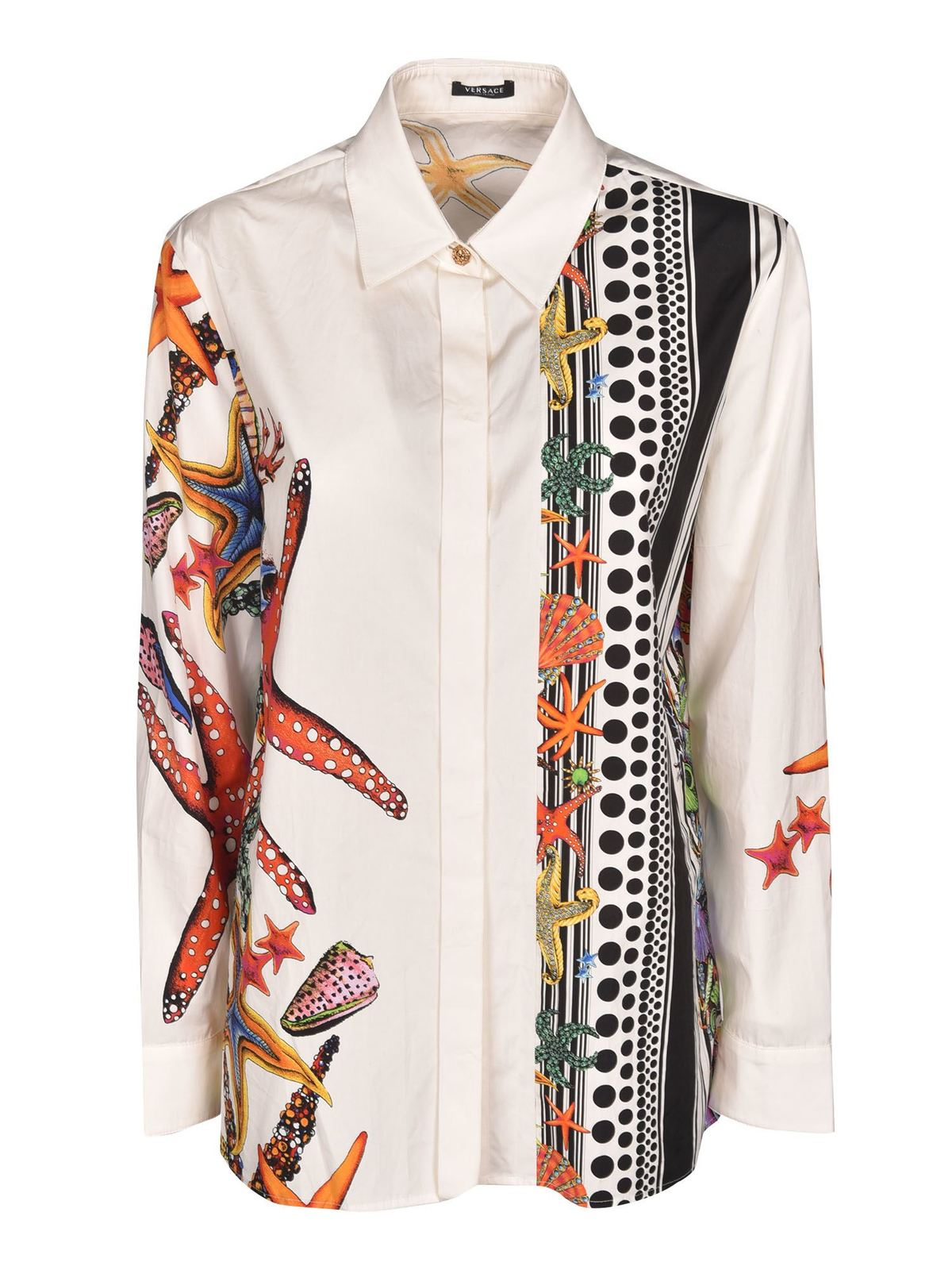 Versace PRINTED SHIRT IN WHITE