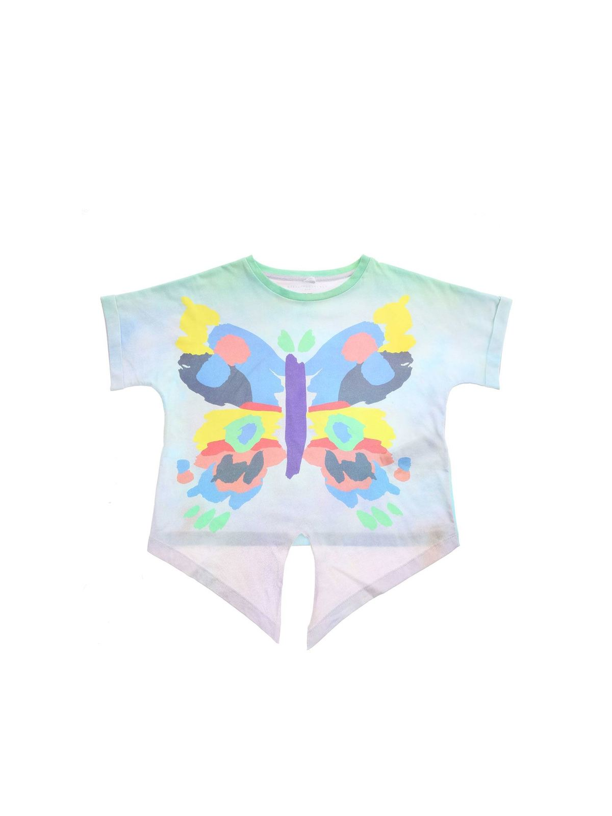 Stella Mccartney Cottons BUTTERFLY PRINT MULTICOLOR T-SHIRT
