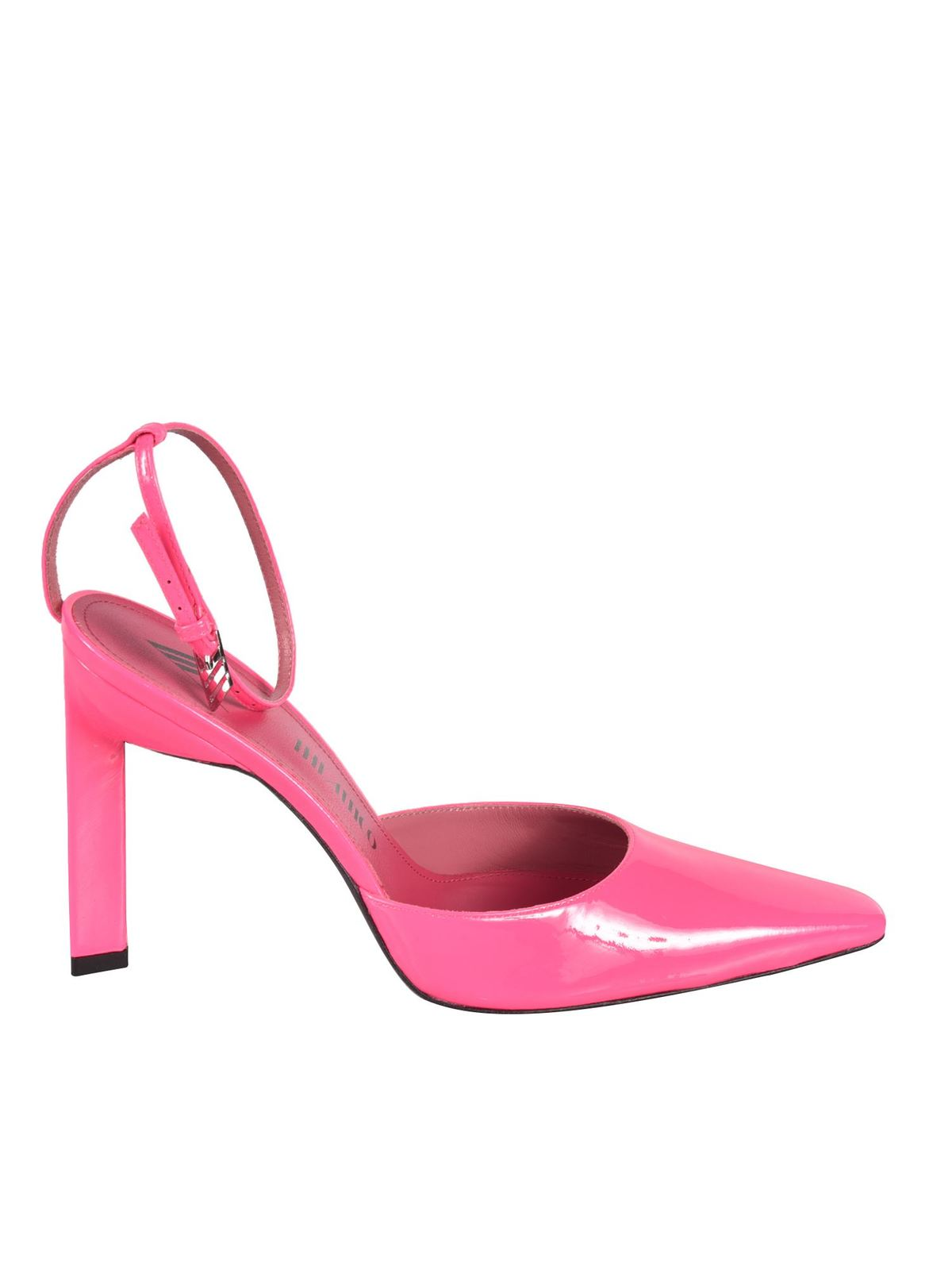 Attico AMBER SLINGBACK PUMPS IN FLUO PINK