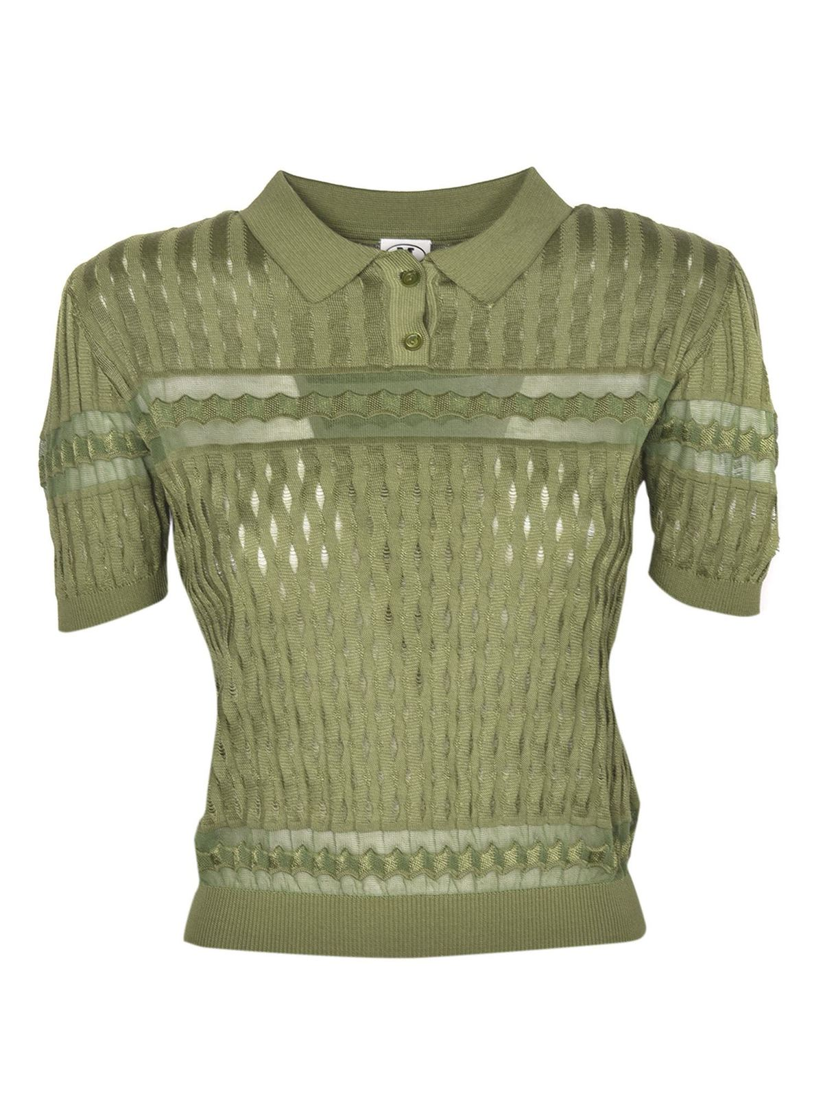 Missoni MULTI-STITCHED POLO SHIRT IN GREEN