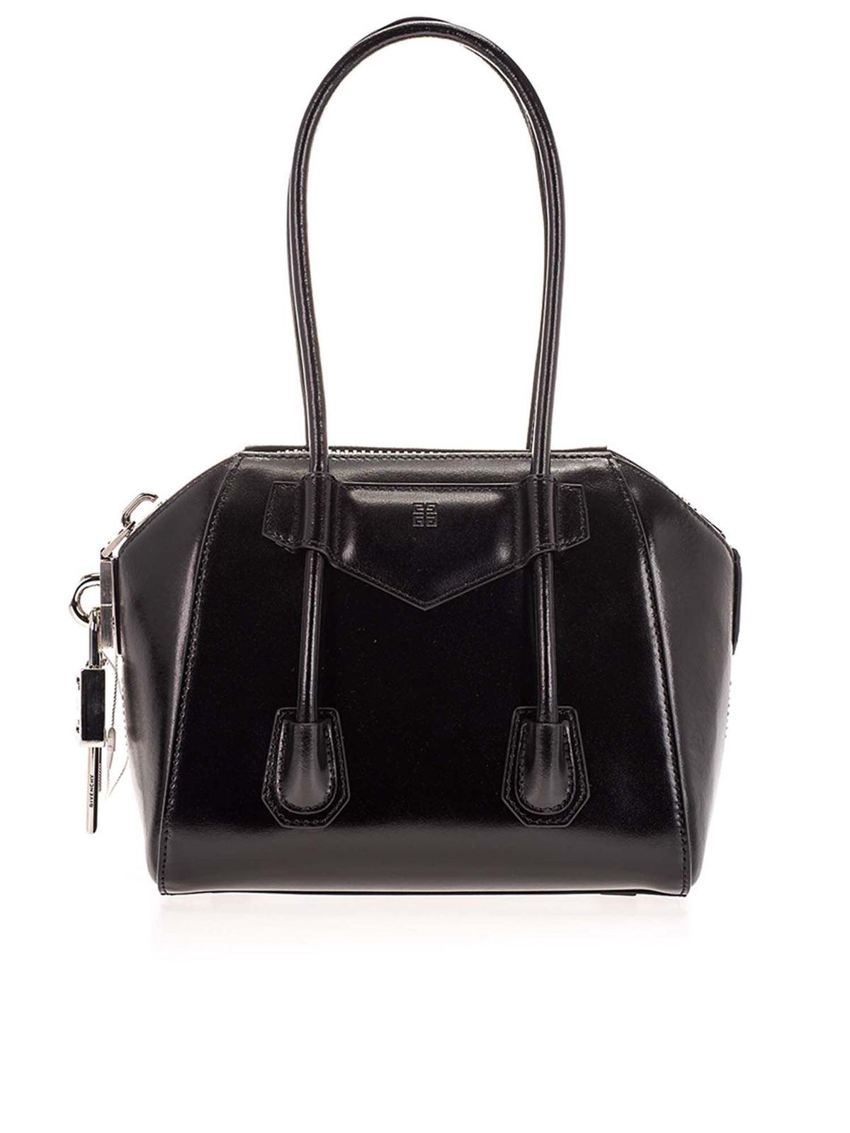 Givenchy Canvases MINI BAG ANTIGONA LOCK IN BLACK