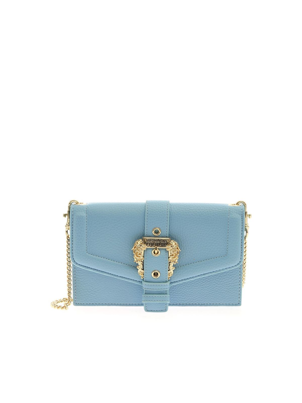 Versace Jeans Couture Wallets BAROQUE BUCKLE WALLET IN LIGHT BLUE