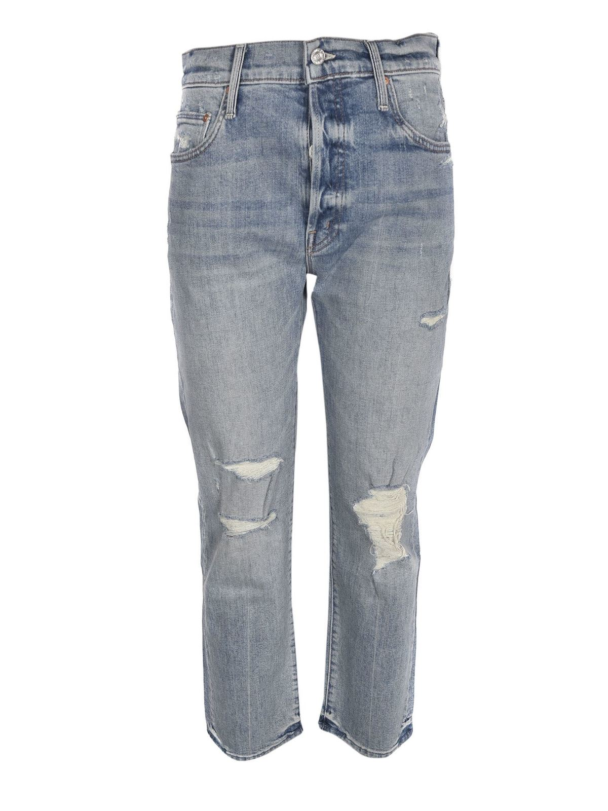 Mother THE SCRAPPER ANKLE JEANS IN LIGHT BLUE