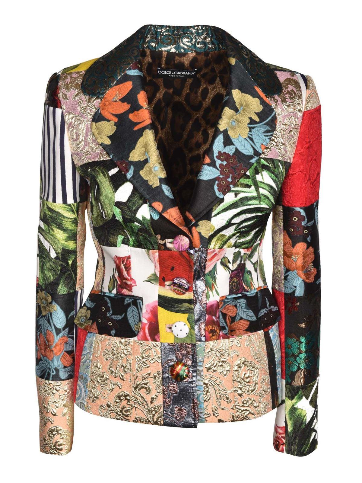 Dolce & Gabbana Coats PATCHWORK BLAZER