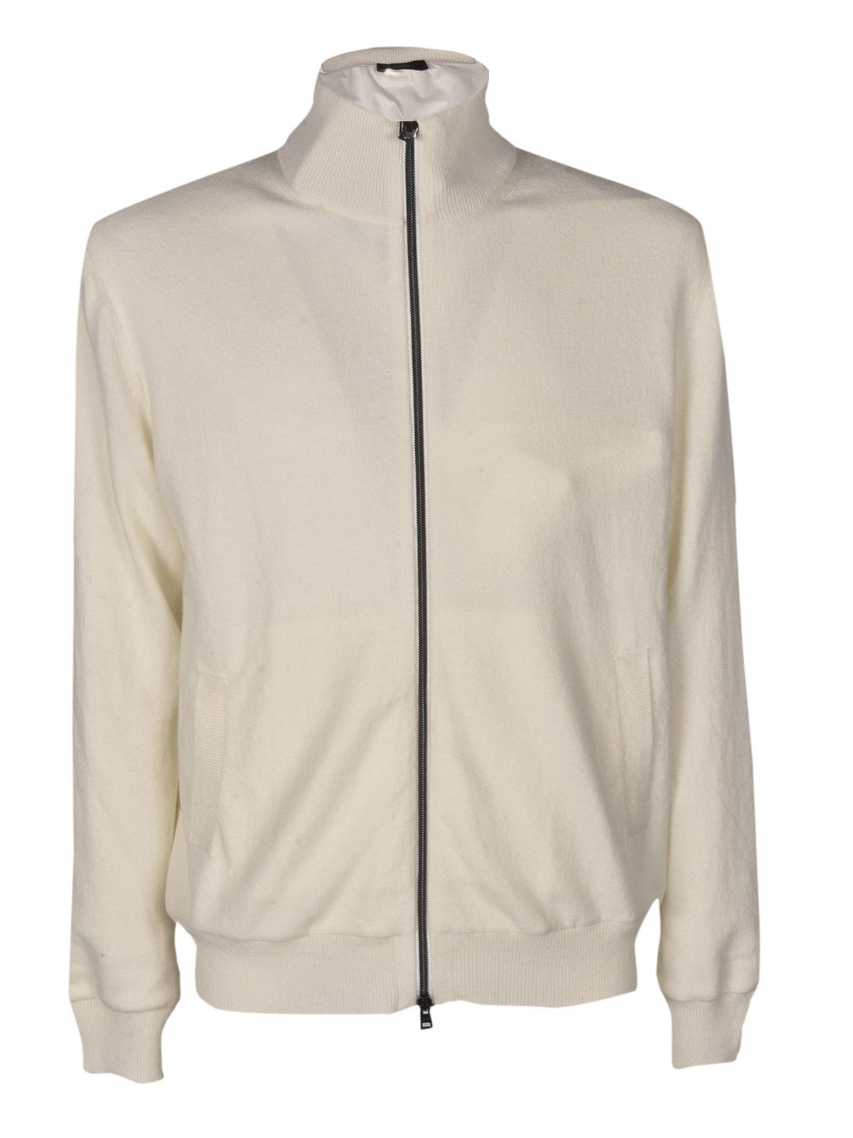 Herno ZIPPED JACKET IN CREAM COLOR