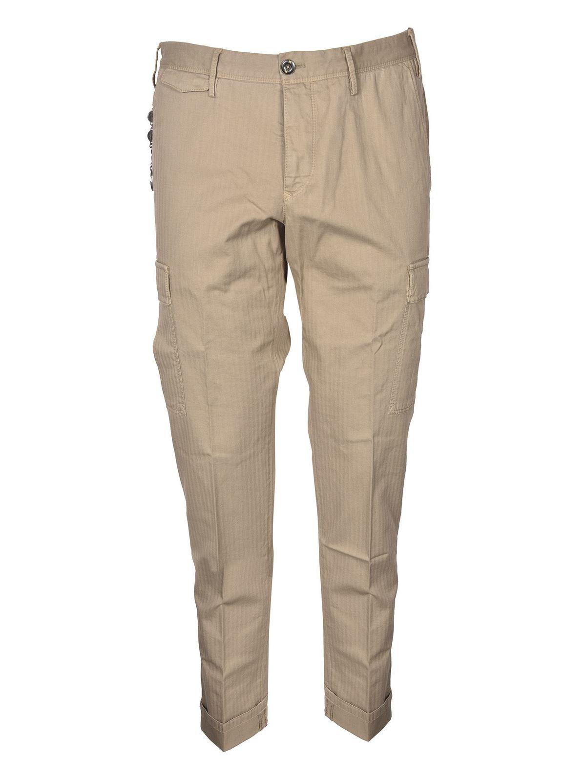 Pt Torino Cargo Trousers In Beige