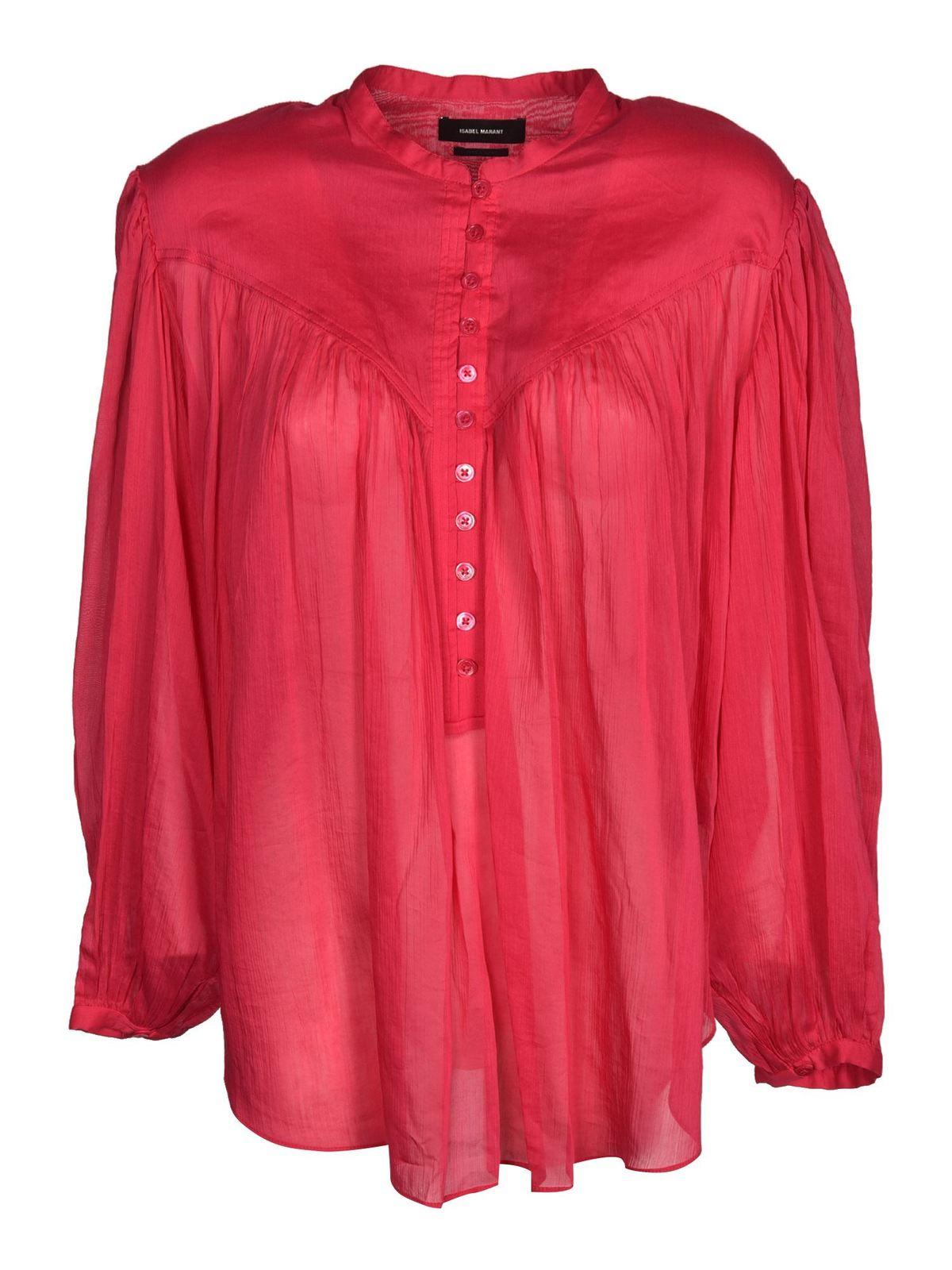 Isabel Marant Cottons KILEDIA BLOUSE IN FUCHSIA