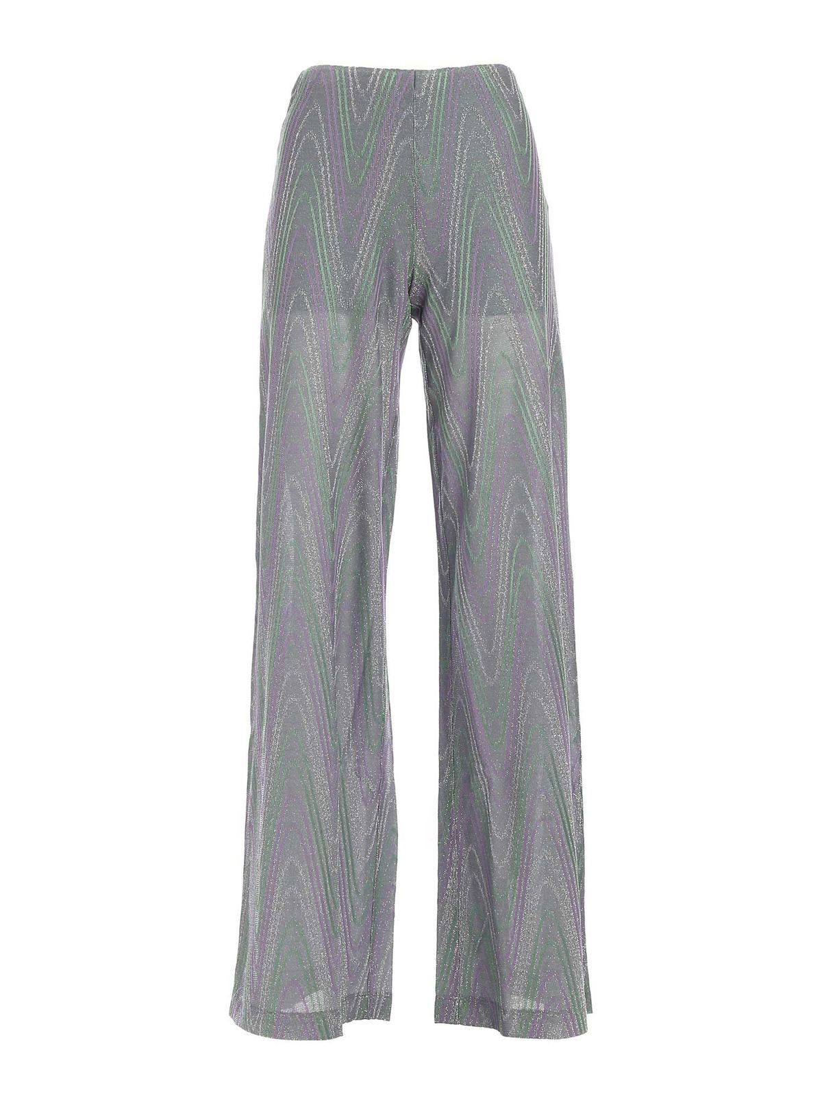 M Missoni Cottons LAME KNITTED PANTS