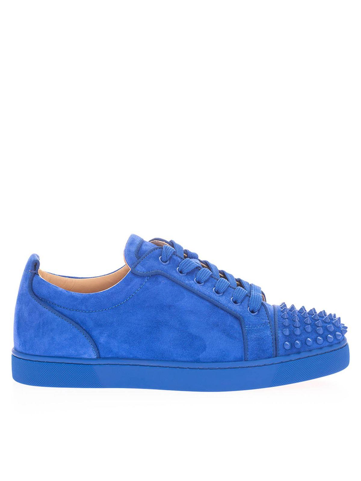 Christian Louboutin Sneakers JUNIOR SPIKES ORLATO SNEAKERS IN ELECTRIC BLU