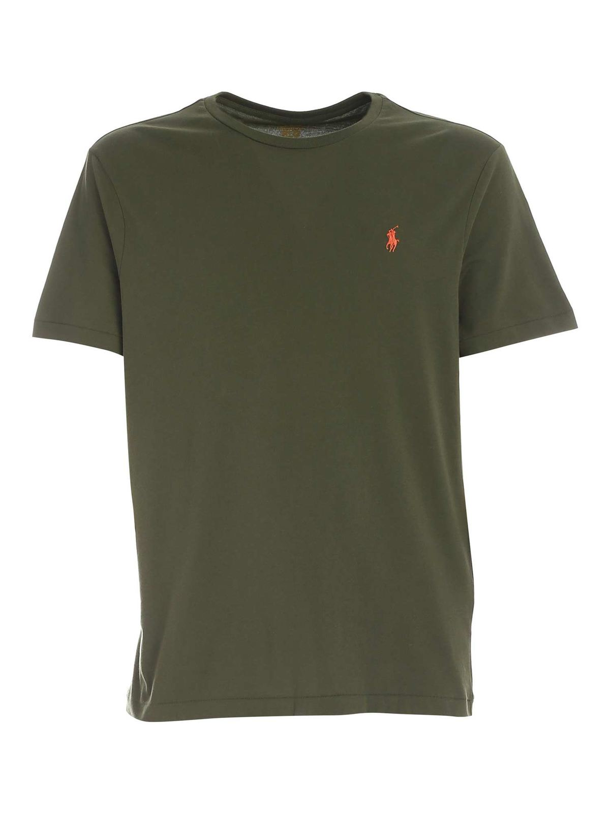 Polo Ralph Lauren T-shirts LOGO EMBROIDERY CORAL T-SHIRT
